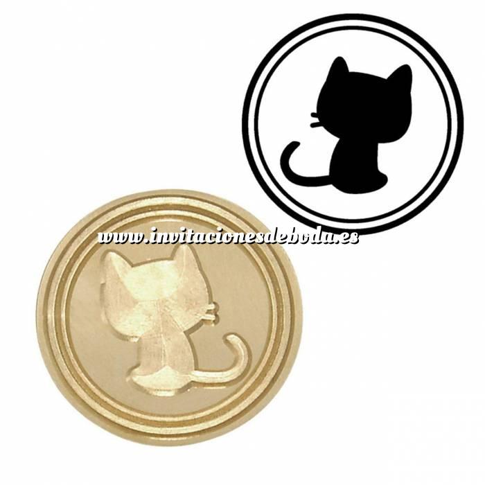 Imagen Diseños inmediatos Sello lacre mango largo - ANIMALES - Gato Pequeño (Últimas Unidades)