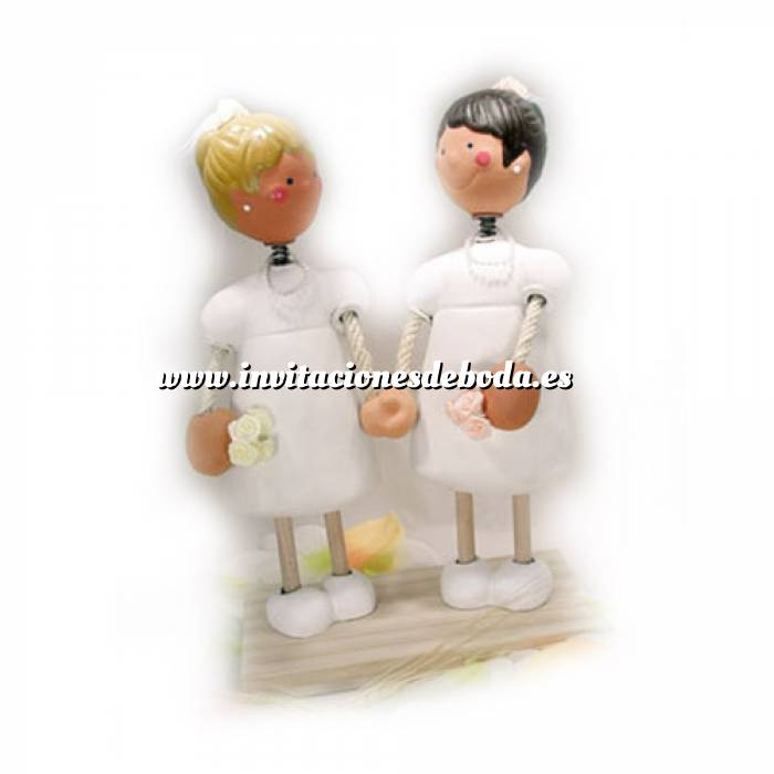 Imagen Novios Tarta Modernos Figura Pastel Novias Chicas (Bubinots) (Últimas Unidades)