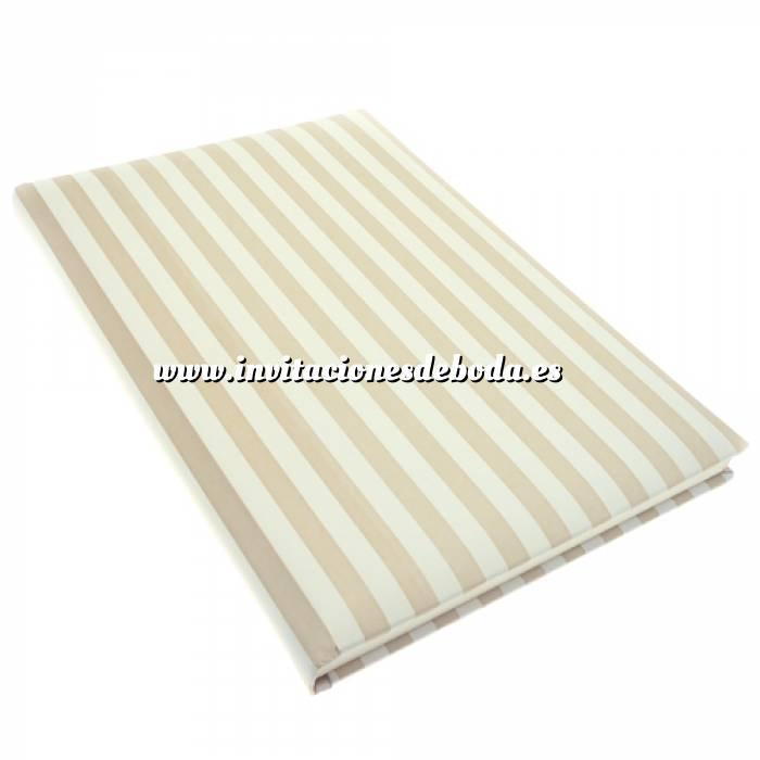 Imagen Textura Libro de Firmas RAYAS VERTICALES Crema-Blanco