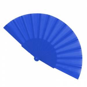 Abanico Económicos - Abanico de tela Azul Oscuro (con varillas de plástico) (Últimas Unidades)