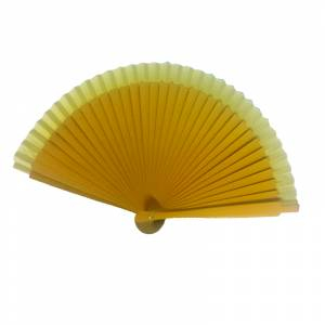Abanico Liso 19 cm - Abanicos Lisos 19 cm AMARILLO MOSTAZA (Últimas Unidades)-RE