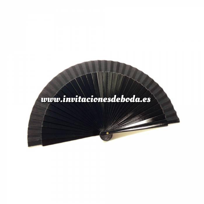 Imagen Abanico Liso 19 cm Abanico Lisos 19 cm NEGRO (Últimas Unidades)