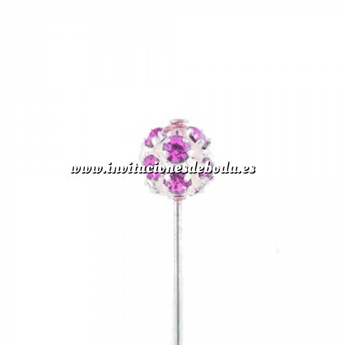 Imagen Alfileres OUTLET Alfiler Especial 47 (bola cristal gigante ROSA) (Últimas Unidades)