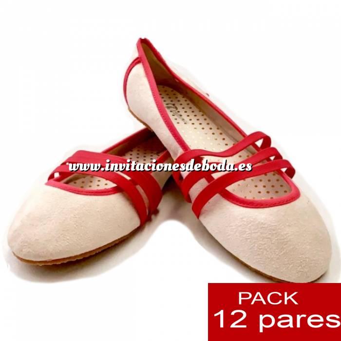 Imagen Alta Calidad Manoletinas TIRAS fucsia - Caja 12 pares (Últimas Unidades)