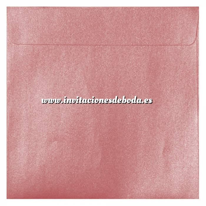Imagen Sobres Cuadrados Sobre Perlado rosa Cuadrado