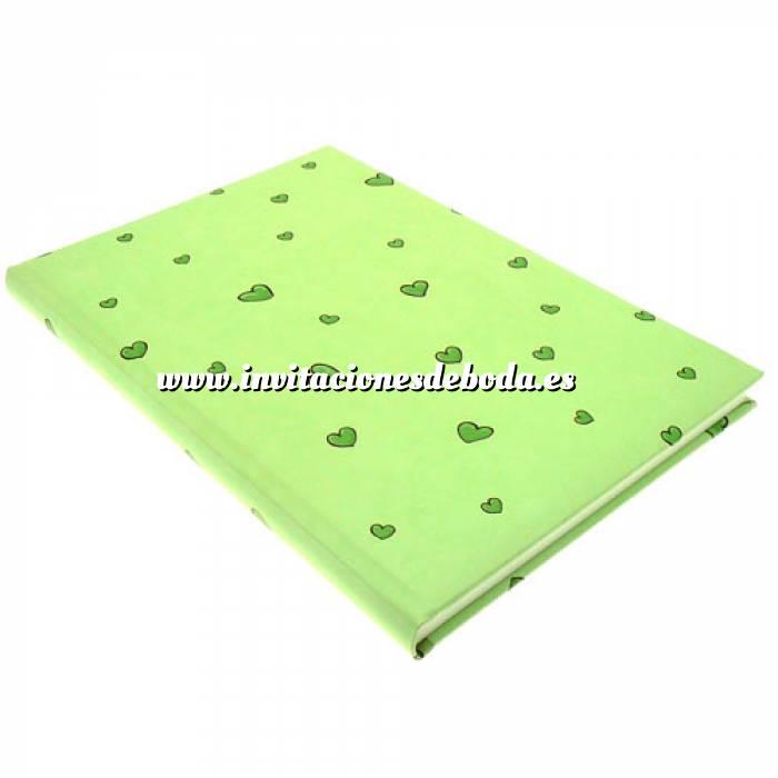 Imagen Textura Libro de Firmas CORAZONES Verde (Últimas Unidades)