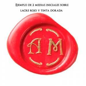Imagen 2 Iniciales Intercambiables Placa Media Inicial J para sello vacío de lacre