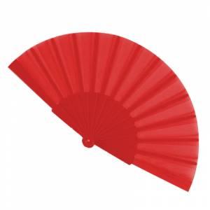 Abanico Económicos - Abanico de tela Rojo (con varillas de plástico) (Últimas Unidades)