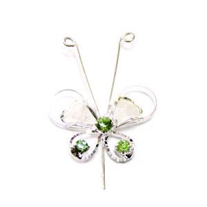 Alfileres OUTLET - Alfiler Especial 76 (Mariposa Cristal Verde) (Últimas Unidades)