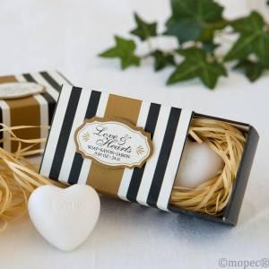 Baño y aromas - Jabón en forma de CORAZÓN con cajita de presentación