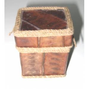 Cajitas para regalo - caja rustica corteza - cuadrada (Últimas Unidades)