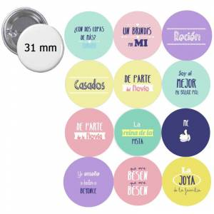 Detalles para invitados/as_Chapas 31mm con frases