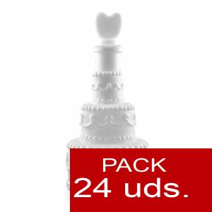 Detalles para la ceremonia - Pompero Pastel con corazón Caja de 24 unidades