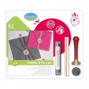 Kits de sellos de lacre - KIT LACRE BODA PAREJA-PALOMA
