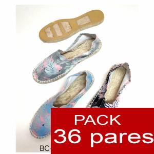 Imagen Mujer Estampadas Alpargata estampada FLAMENCOS ( BC-009 ) Caja 36 pares Oferta verano