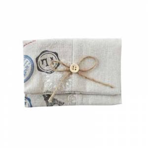 Prácticos mujer - Bolsito portatodo Yute Postal Vintage