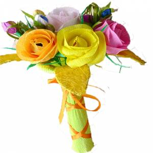 Prácticos mujer - Ramo Mediano - Flor Bombón - Color Liso