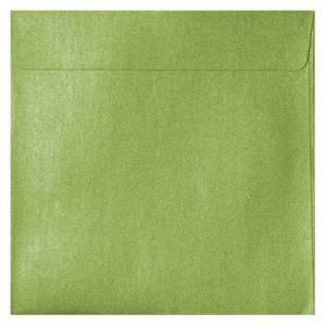 Sobres Cuadrados - Sobre Perlado verde Cuadrado (Verde Lima)