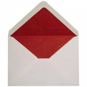 Sobres Forrados - Sobre Beige c5 forro fantasía rojo